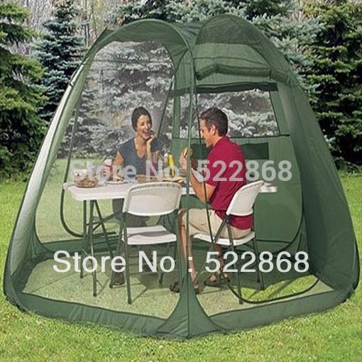 high quality 5-10person instant automatic beach tent big gauze sun-shade