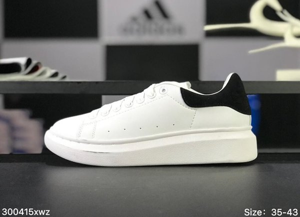 White Black Casual Shoes Luxury Desinger Women Men Leisure Shoes Leisure Dress Footwear Low Top Shoes Leather Wedding Daily Sneaker 35-43