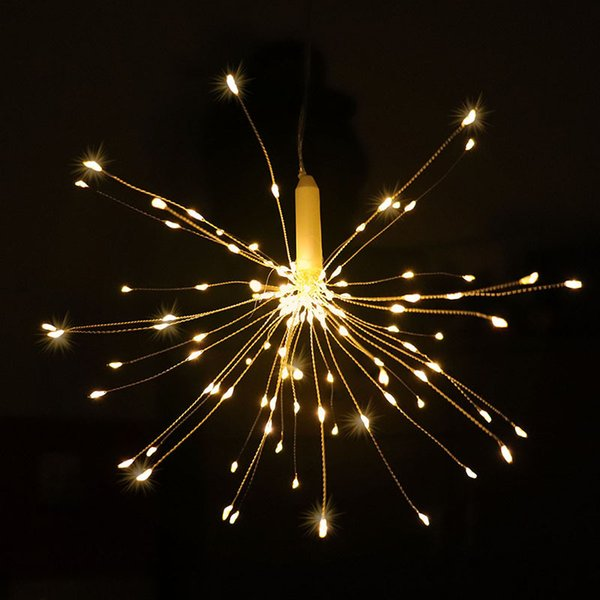 Hot Sale LED Wireless Waterproof Fairy String Lights 150led Hanging Firework Light Garden Party Tree Yard Christmas Decoration with Remote