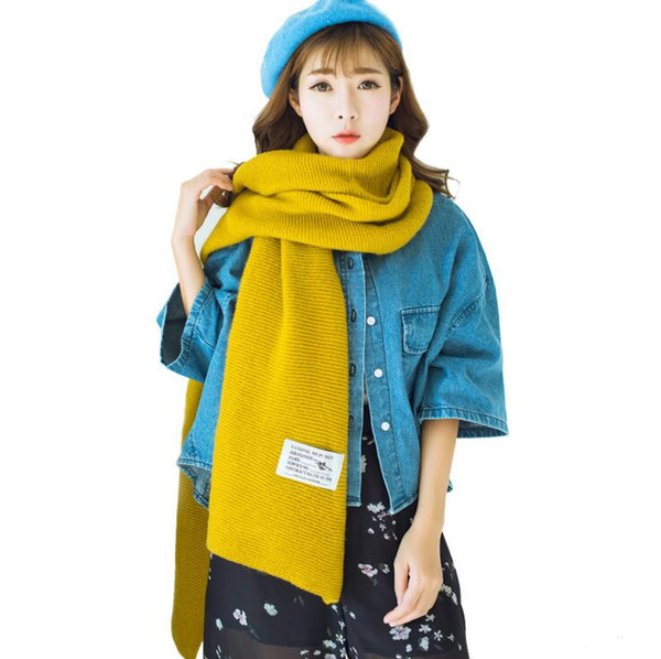 New scarf for men and women autumn and winter wild thick long section dual-use warm Pendant Scarves