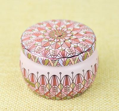 Wedding flower tea tin containers box wholesales for favors gifts package Portable Drum design 120pcs lot free shipping
