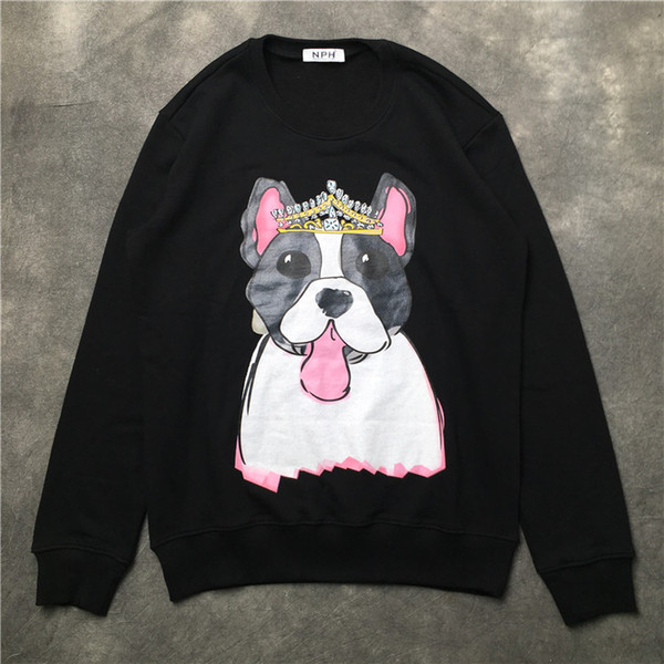 2018 Summer Fashion Brand men hoodies Cartoon Dog printing sweater men's Long sleeve casual sweatshirt sports hoody Men Sweatshirt