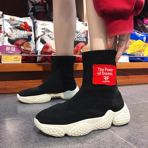 2018 красные новые сапоги змеи свиная кожа подкладка женщины открытый воздух обувь для ходьбы дышащий спортивный ботинок мода классический кроссовки размер 35-39 зима