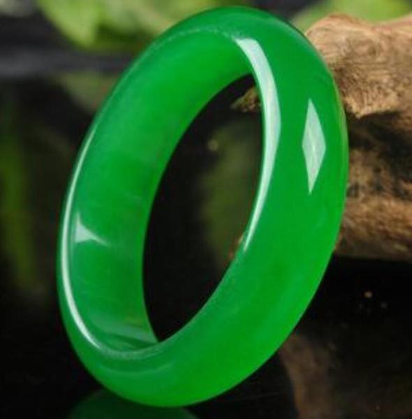 Genuine Natural 57-62mm Green Jade Bangle Bracelet Real Natural Una giada verde