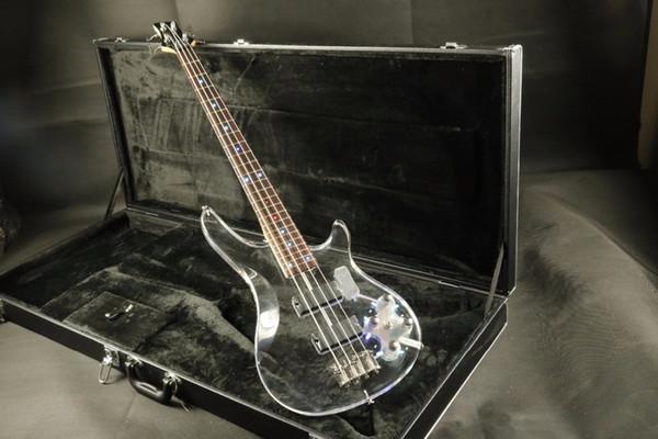 High End Quality Acrylic body acrylic maple neck 4string bass guitar Electric Guitar Guitarra Free Shipping