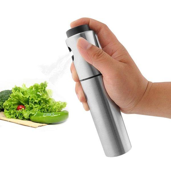 Newest Silver Stainless Steel Oil Sprayer Olive Pump Spraying Oil Bottle Sprayer Can Jar Pot Tool Can Pot Oil Sprayer 200pcs