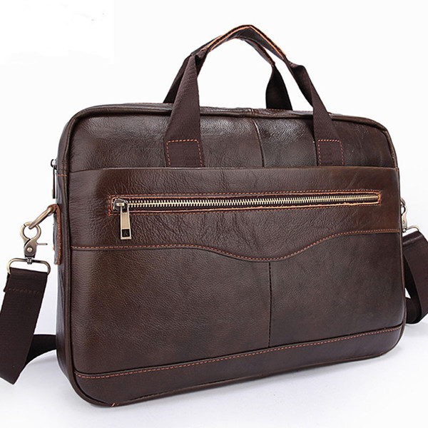 Top Sell Fashion Simple Dot Famous Brand Business Men Briefcase Bag Leather Laptop Bag Casual Man Shoulder bags