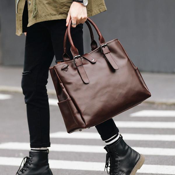 2017 mais novo projeto do vintage big mens pasta de couro mensageiro saco de negócios bolsa de ombro marca de couro sacos de escritório
