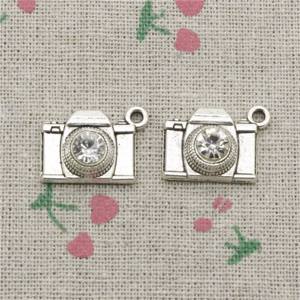 51pcs Charms camera 20*16mm Antique Silver Pendant Zinc Alloy Jewelry DIY Hand Made Bracelet Necklace Fitting
