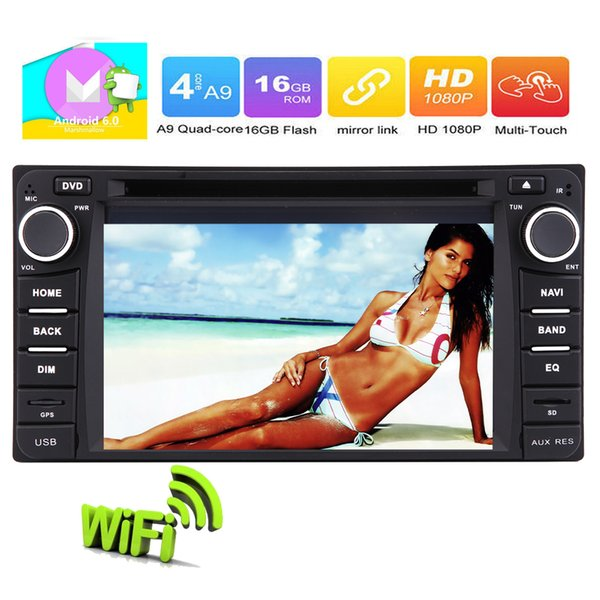 6.2'' Pure Android 6.0 Car DVD Player Quad-Core For COROLLA EX Double Din In Dash Headunit Stereo GPS Navigation System WIFI