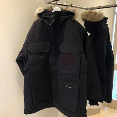 Men Parkas WINTER CANADA EXPEDITION-2 GOOSE Down & Parkas WITH HOOD/Snowdome jacket Brand Real Raccoon Collar White Duck Outerwear & Coats