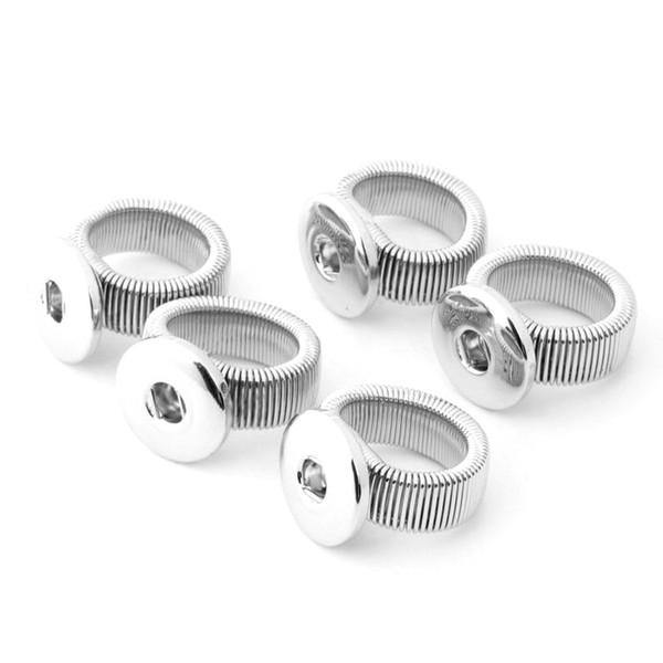 hochwertige noosa diy einstellbare elastische legierung druckknopf ring für 18/20 mm ingwer schnappt taste taste schmuck