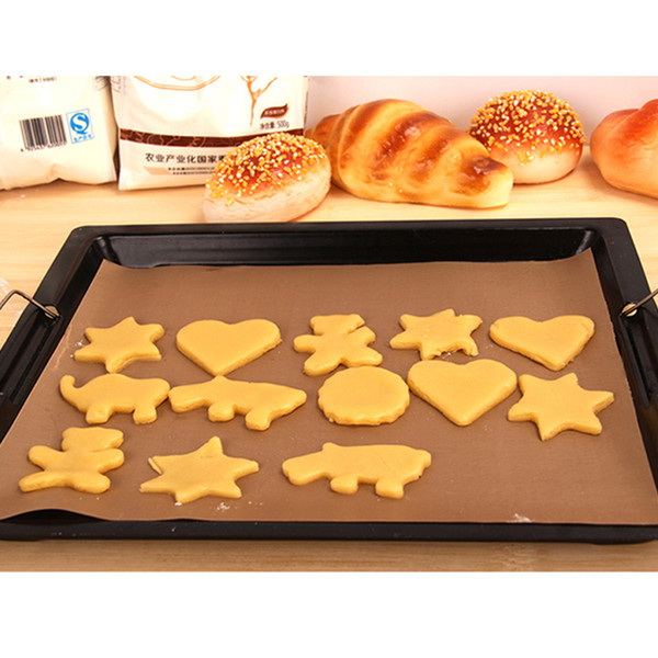 3PC Non-Stick Baking Mat Bakeware Nonstick Baking Sheet For Pastry Heat Resistance Cooking Pad Microwave Oven Fiberglass Cloth