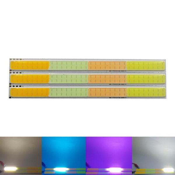 2018 New MIX four color 17cm DC 12V 4w led cob strip lamp light emitting diode colorful cob for car bulb led strip chip