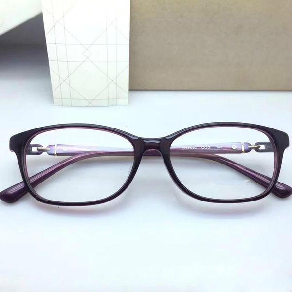 DC7519 Marka moda zarif bayan gözlük çerçeve kaliteli metal ve saf tahta orijinal ambalajı ile reçete galssses OEM fabrika fiyat