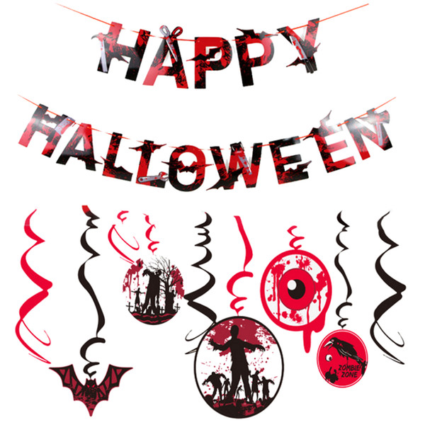 10 Teile / satz Happy Halloween Dekoration Kit Scary Photo Booth Requisiten Halloween Party Supplies