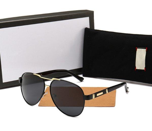 New Style zweifarbige Brille Damenmode polarisierte Sonnenbrille Trend koreanische Farbe Brille großen Rahmen Sonnenbrille