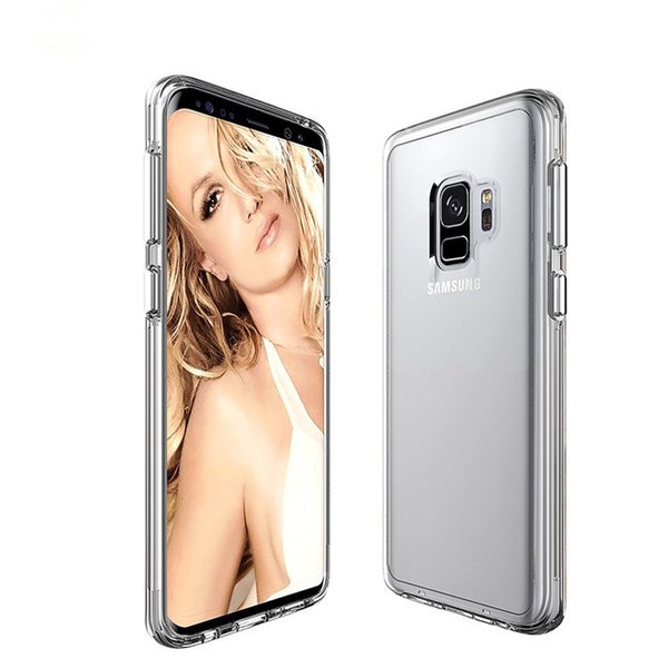 PURE KASE Ultra Clear Slim Case with Shock-absorption Bumper Anti-scratched Back Cover for Samsung Galaxy S8 S9 S9 plus A8 2018