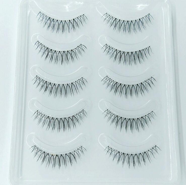 Hot 3D Mink Hair Makeup False Eyelashes 5 pairs/pack Natural Long Beauty Cosmetics Big Eyes Fake Lashes High Quality