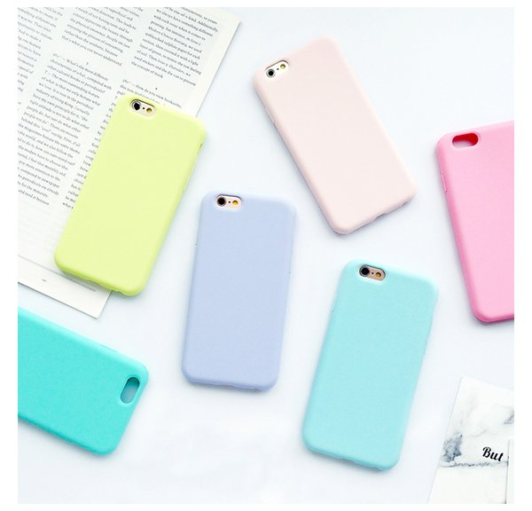 2018 Hot Trending For iphone 8 plus case X 10 Solid Color Ultrathin Soft TPU Cases Cute Candy Color Phone Case Back Cover