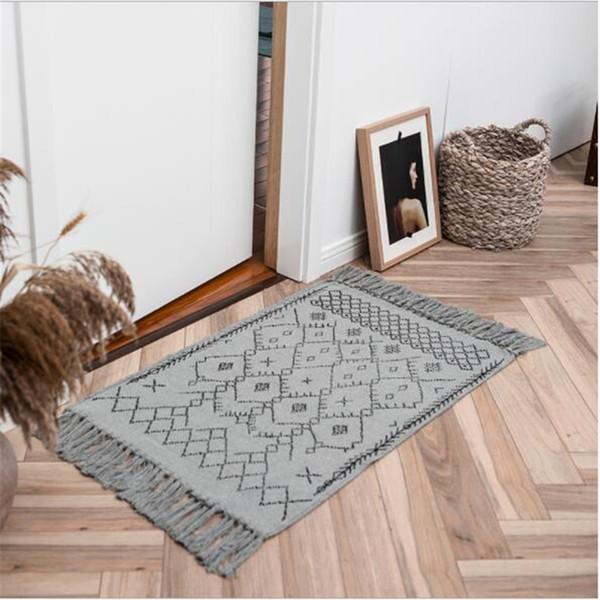 New Modern Soft Nordic Style Carpets For Living Room Bedroom Kid Room Rugs  Home Carpet Floor Door Mat Cotton Kilim Area Rug Mats Best Carpet Prices ...