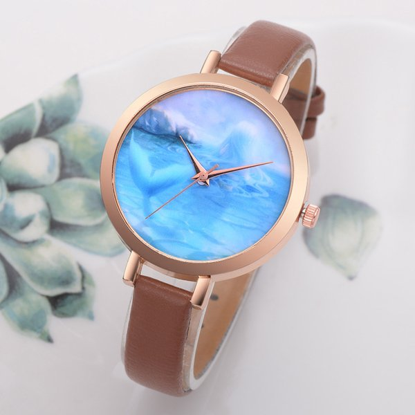 0ea1079b2c1 2018 mulheres relógios design retro pulseira de couro liga analógica de quartzo  relógio de pulso estilo