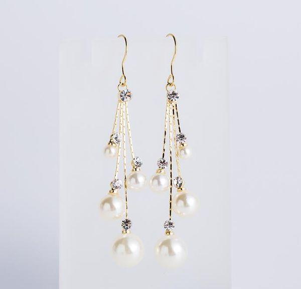 Bridal earrings, fashionable pearls, wedding earphones, jewelry, earrings, wedding accessories, ladies.