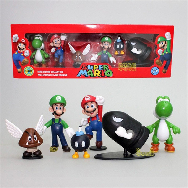 Super Mario Bros Garage Kit Model Doll PVC Action Figure Ornament Mini Figures Collection Game Anime Periphery Toy Gift 18hh WW