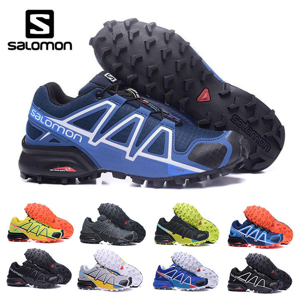 buy popular 32eb6 d01cf Salomon 4 Mens New Special Field Ultra Hiking Shoe Speedcross 4 Trail  Running Sneaker Shoe Black Yellow Mens Size 7 12 Kids Running Shoes Black  ...