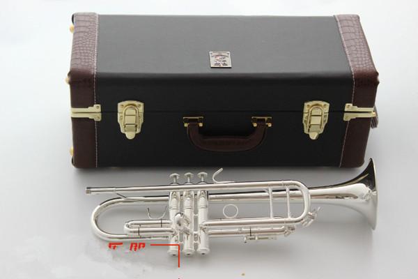 Trompette Baja de fabrication américaine, argent plaqué cuivre argenté AB-190S, trompette, instrument, trompette en plaqué argent, tonalité grave