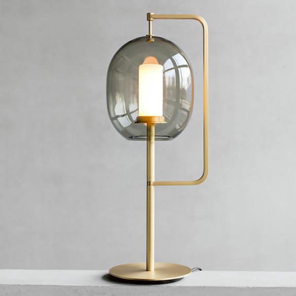 2019 Modern Glass Table Lamp Bedroom Bedside Table Lights Scandinavian  Decorative Desk Lamps Light Fixtures From Albert_ng668, $246.24 | DHgate.Com