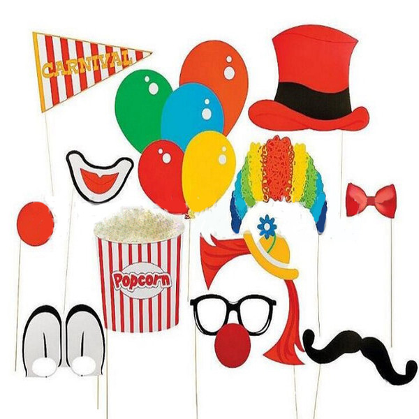 10-60pcs/set Photo Booth Props Photography mask paper Card Birthday Wedding Party Decoration event gift lip/pirate/mermaid/etc NEW 3