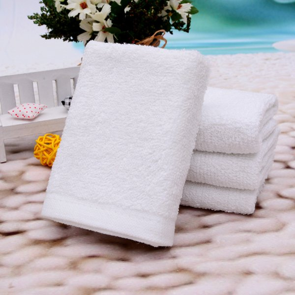 White Small Square Towel 25x25cm Custom Gift Giveaway Cheap Towel Absorbent Hand Towel Hotel Cotton Napkin Handkerchief Kitchen Rag RE5428