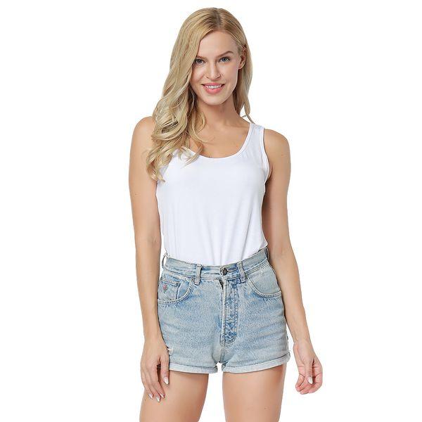 Womens Ladies Sleeveless Tank Tops Vests Plain T Shirt Vest Top Modal Lady Yoga Sports Tights