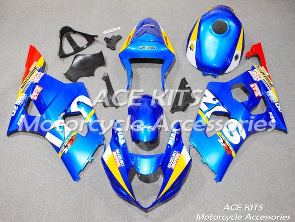 Туз мотоцикл обтекатели для SUZUKI GSX-R1000 K3 2003 2004 сжатия или впрыска кузова Синий No. 294