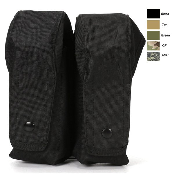 Mag Holder Cartridge Clip Pouch Pistol Handgun Tactical MOLLE Double Magazine Pouch NO11-539