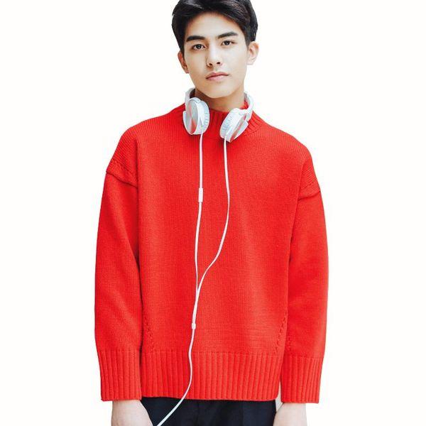 Thintenda Sweater Men 2017 Fashion Korean Pullover Men O-neck Knitted Sweater Loose Mens Turtleneck Hip Hop Clothing