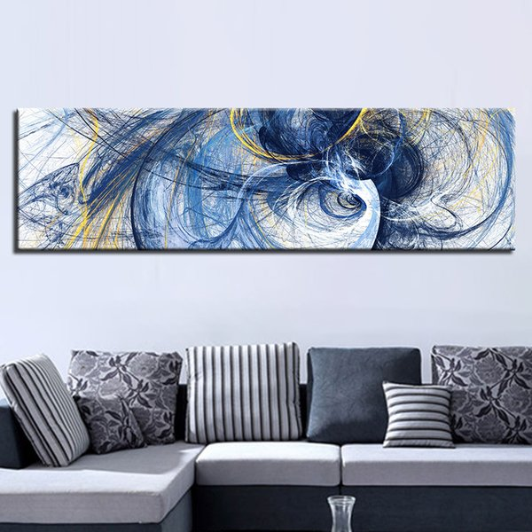 Canvas Pictures Home Decor Living Room 1 Piece Abstract Creative Design Psychedelic Lines Painting Prints Banner Poster Wall Art