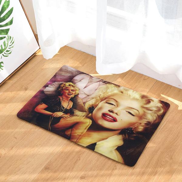 Decoruhome Anti Slip Waterproof Floor Mat Marilyn Monroe Kitchen Rugs  Bedroom Carpets Decorative Stair Mats Home Decor Crafts Discount Outdoor ...