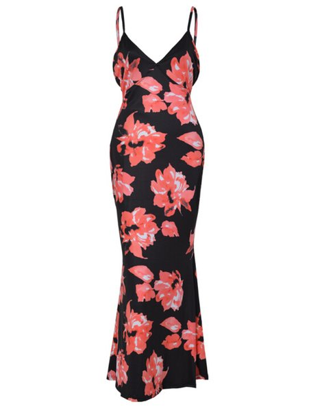 New arrive summer Women's clothing Fashion sexy printing dress pink red green blue 4 colors