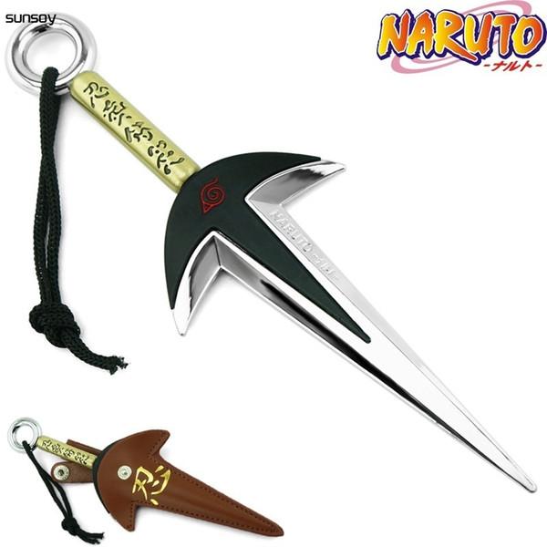 Naruto Quarto Hokage Yondaime Namikaze Minato Kunai Con Custodia in pelle 18cm Naruto Action Figure Giocattoli giapponesi per il regalo del ragazzo