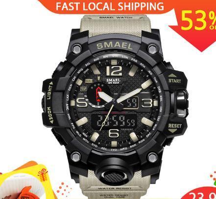 Men Watch 50m Waterproof Wristwatch LED Quartz Clock Sport Watch Male relogios masculino 1545 Sport S Shock Watch Men