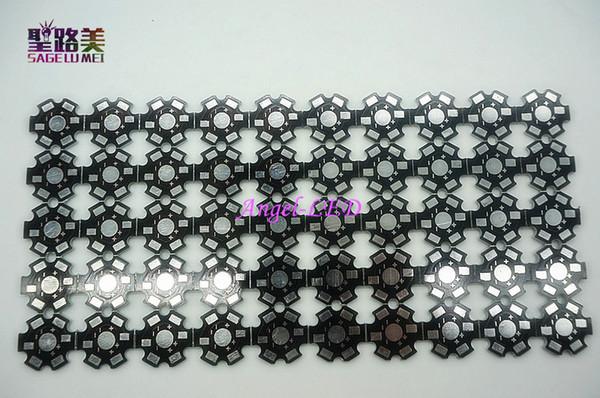 50 pz ad alta potenza 1w / 3w / 5w LED alluminio dissipatore di calore radiatore 20mm stella led bult piastra base bordo fai da te forma anulare per chip led