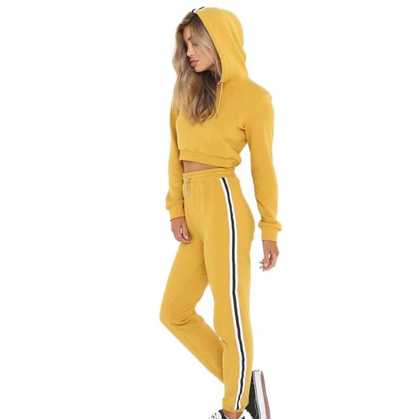 NEW Tracksuit For Female Long Sleeve Hooded Tops Pants Set Suits Fitness Women's Tracksuits Hoodies