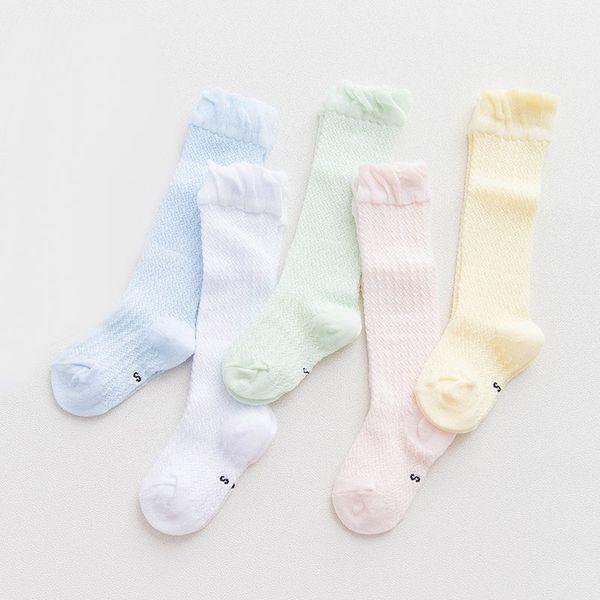 Original zuverlässigste 2018 Schuhe Großhandel Baby Kniestrümpfe Neugeborenen Baby Kleinkind Baby Baumwolle  Socken Mesh Rutschfeste Atmungsaktive Baby Mädchen Socken Sommersüßigkeit  ...