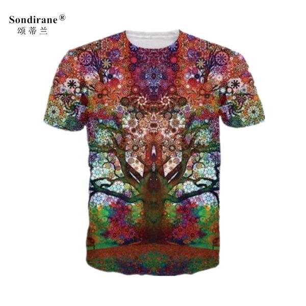 New Fashion Women/Men Psychedelic Trees 3D Print Short Sleeve Casual Tops T-Shirts Fashion Hip Hop Clothing Summer Breathable Tees Plus Size