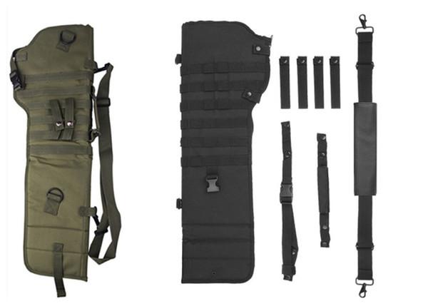 Rifle táctico Scabbard Al aire libre Caza Mochila Holster Bolsa de escopeta de asalto largo Gun Protection Carrier verde negro QT1-1
