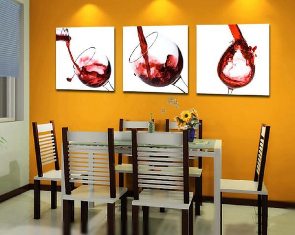 Modern Art Print Poster Parede Pictures Decore Nursery Room Pintura Da Lona Sem Moldura Pintura De Vidro De Vinho Tinto Cozinha Dinning