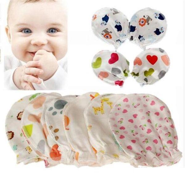 Suave de algodón para bebés Guardamanos Bebé recién nacido Anti Scratch Mitones Guantes Cuidado del bebé Nuevos accesorios TO353