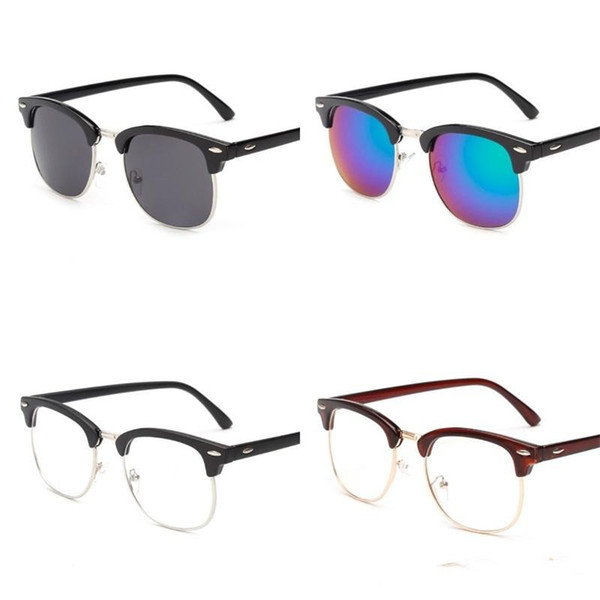 Good Quality Sunglasses For Woman Man Retro Sun Glasses Half Frame Reflective Color Coating Spectacles Anti Glare 6gt dd